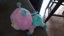 "AURORA  PLUSH LOVEY 6"" pink green lady bug ladybug big eyes !"