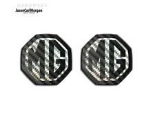 MG ZR ZS,MGF MK1 LE500 Compatible Front & Rear Insert Badge 59mm Black Carbon