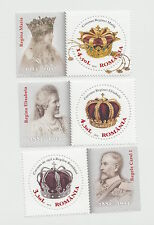 2013, Romania, Queen Mary, Kings, crowns, set + label, MNH, Carol I