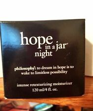 Philosophy Hope in a Jar NIGHT Moisturizer Deluxe Size 4 oz NIB!