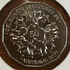 2010 50 cent  unc coin - Australia celebrate what's great