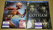 New Flash + Gotham Blu-ray/Digital Copy First Season w/ Slipcovers DC Comics