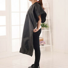 UNISEX ADULTS BLACK HAIR SALON HAIRDRESSING CUTTING CAPE COVER BARBERS GOWN NEW