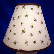 Yellow Honey Bees on White Lampshade Handmade  Lamp Shade