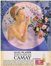 PUBLICITE ADVERTISING 054 1963 CAMAY savon quel plaisir
