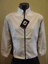 FOOTJOY WOMENS PERFORMANCE FULL ZIP WINDSHIRT COLOUR WHITE/BLACK SIZE LARGE NEW