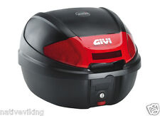 CBR125R GIVI E300N MONOLOCK TOP BOX 30 LITRES BLACK NEW TOP CASE+ FIX PLATE CBR