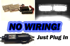 White LED Strobe Lights ~ (Security Car Flash Ex Wigwag Fire Ambulance MOD) ~
