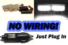 Blanco LED Luces strobe ~ (Seguridad Auto Flash ex Wigwag fuego ambulancia Mod) ~