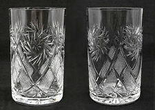 Set of 2 Russian Crystal Glasses Tumblers For Tea Glass Holder. 8.5 oz (250ml)