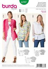 BURDA SEWING PATTERN LADIES Three in one  blouse PLUS SIZE 18-34 6787 A