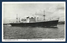 SS MANCHESTER SPINNER Manchester Liners Cargo Ship BW RPPC