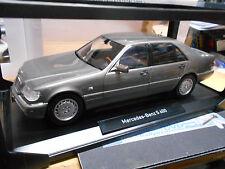 MERCEDES BENZ W140 S-Klasse S600 600 anthra grey grau met HQ 1997 Norev NEU 1:18
