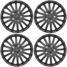 SET OF 4 x 15 INCH BLACK MULTI SPOKE SPORTS WHEEL TRIMS COVER HUB CAPS 15""