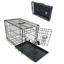 "Dog Cage Single Door Fold Carry Metal Pet Puppy Training Crate 18"" x 12"" x 15"""