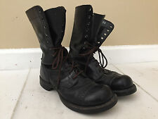 Corcoran Black Leather Military Combat Jump Boots Cap Toe 1500 Size 7 D