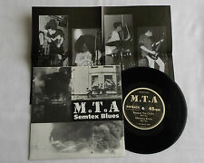 """M.T.A Semtex blues FRENCH Orig 7"""" EP + Poster PAYBACK Records (1992) MINT/NMINT"""