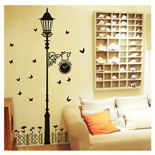 WALL STICKER CARTA DA PARATI ADESIVI MURALI DECAL LAMPIONE OROLOGIO FARFALLA NEW