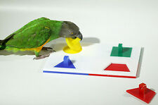 Birdie Puzzle - Medium 4 Shape Puzzle Trick Toy for Parrot - Free Shipping