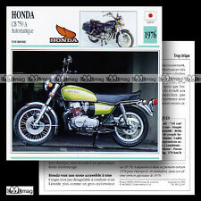 #022.07 HONDA CB 750 FOUR A HONDAMATIC 1976 Fiche Moto Motorcycle Card