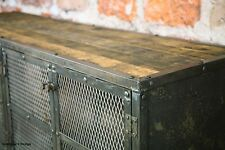 Media Console, TV Stand, Credenza. Vintage Industrial. Steel/ Reclaimed Wood.