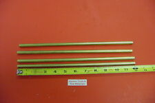 "4 Pieces 3/8"" C360 BRASS SOLID ROUND ROD 12"" long New Lathe Bar Stock .375"""