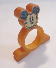Vintage Butterscotch Bakelite MICKEY MOUSE Figural Napkin Ring - As Is