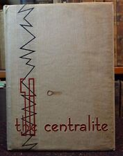"School Annual Yearbook ""Centralite"" Central High Knoxville Fountain City TN 1958"