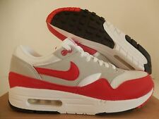 NIKE AIR MAX 1 QS WHITE-SPORT RED-NEUTRAL GREY-BLACK SZ 9 RARE! [378830-161]