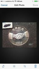 2pc 1972 japan Okinawa Reversion Medal silver coin
