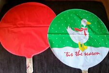 Christmas Duck Snow Decoration BALLOON Birthday Party Favors 3 PC Red Ducky NEW