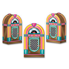 Jukebox Favor Boxes - Pack of 3 - 1950's Rock & Roll Party Favors