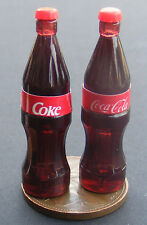 1:12 Scale 2 Large Coca Cola Coke Bottles Dolls House Miniature Pub Bar Drink D