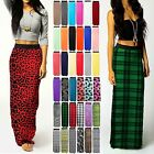 WOMENS LONG GYPSY ELASTIC JERSEY LONG SUMMER LADIES MAXI SKIRT DRESS PLUS SIZE