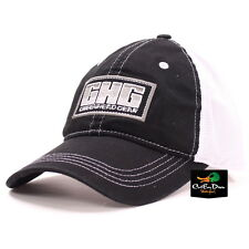 AVERY GREENHEAD GEAR GHG LOGO MESH BACK TRUCKER HAT BALL CAP BLACK & WHITE