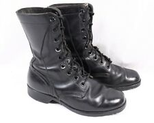 Vintage 1970 Black Leather Vietnam 70s Combat Military Army Ripple Boots Men 7 W