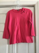 Ann Taylor top pink 3/4 sleeve size m medium excellent condition prev worn
