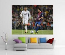 Messi Ronaldo Real Madrid Barcelona Fc Gigante De Pared Art Print Cartel H110