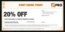 Home Depot Pro 20% Off Coup0n Paint Primers Stains Super Fast DELIVERY