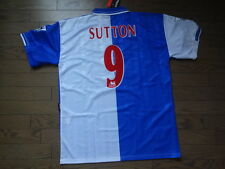 Blackburn Rovers #9 Sutton 100% Original Jersey Shirt XL 1998/99 Home BNWT