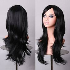 "28"" Long Thick Natural AS Real Remy Hair Straight Curly Wave Full Wig Ombre Hair"