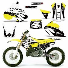 Decal Graphic Kit Suzuki RM 250 RM250 Dirt Bike Number Backgrounds Deco 99-00 WR