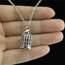 """18"""" Vintage Silver Hollow 22mm Hollow Birdcage Cage Collar Necklace Lady Jewelry"""