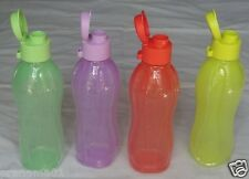 TUPPERWARE ECO FLIP TOP WATER BOTTELS SET OF 4 EACH 500 ML - NEW - FREE SHIPPING