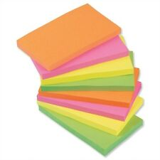 Assorted Neon Post It Notes, Remove Sticky Notes, 76mm x 127mm. 10 packs of 100