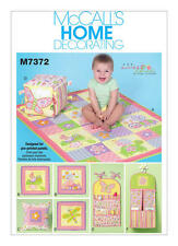 McCalls M7372 PATTERN - Nursery Collection - New - Size OSZ