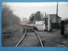 PHOTO  COANWOOD RAILWAY STATION 1/6/76  PLATFORM ON THE ALSTON BRANCH NEWCASTLE