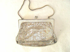 VINTAGE SILVER TONE MESH EVENING HAND PERSE - WEST GERMANY