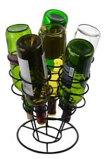 Southern Homewares 6-Bottle Bouquet Wine Rack Stylish Black Metal Brand New