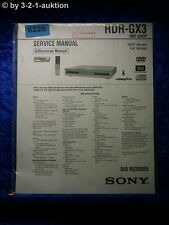 Sony Service Manual RDR GX3 DVD Recorder (#6228)